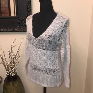 BKE Boutique Gray/Silver Sweater
